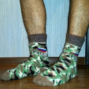 военные шерстяные носки