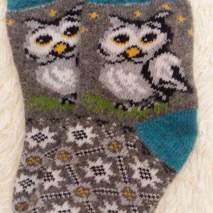 шерстяные носки сова